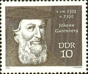 gutenberg francobollo