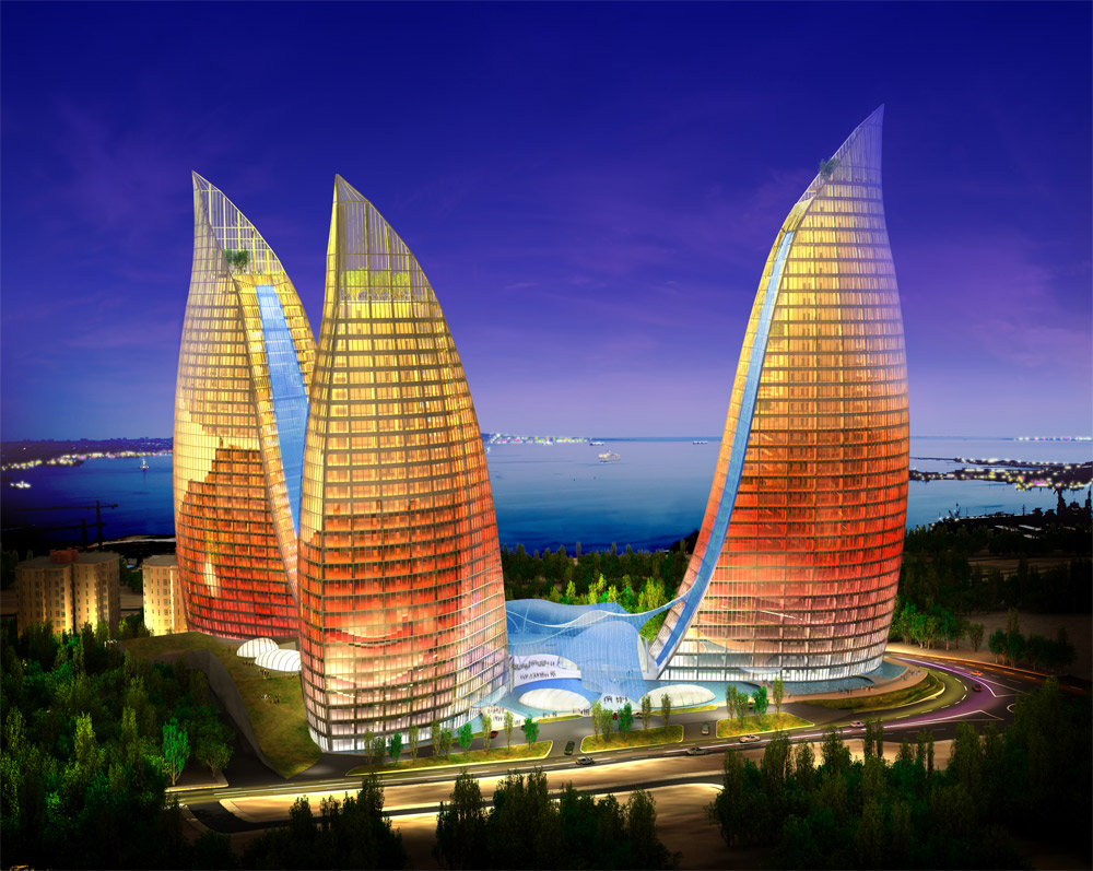 baku flaming towers
